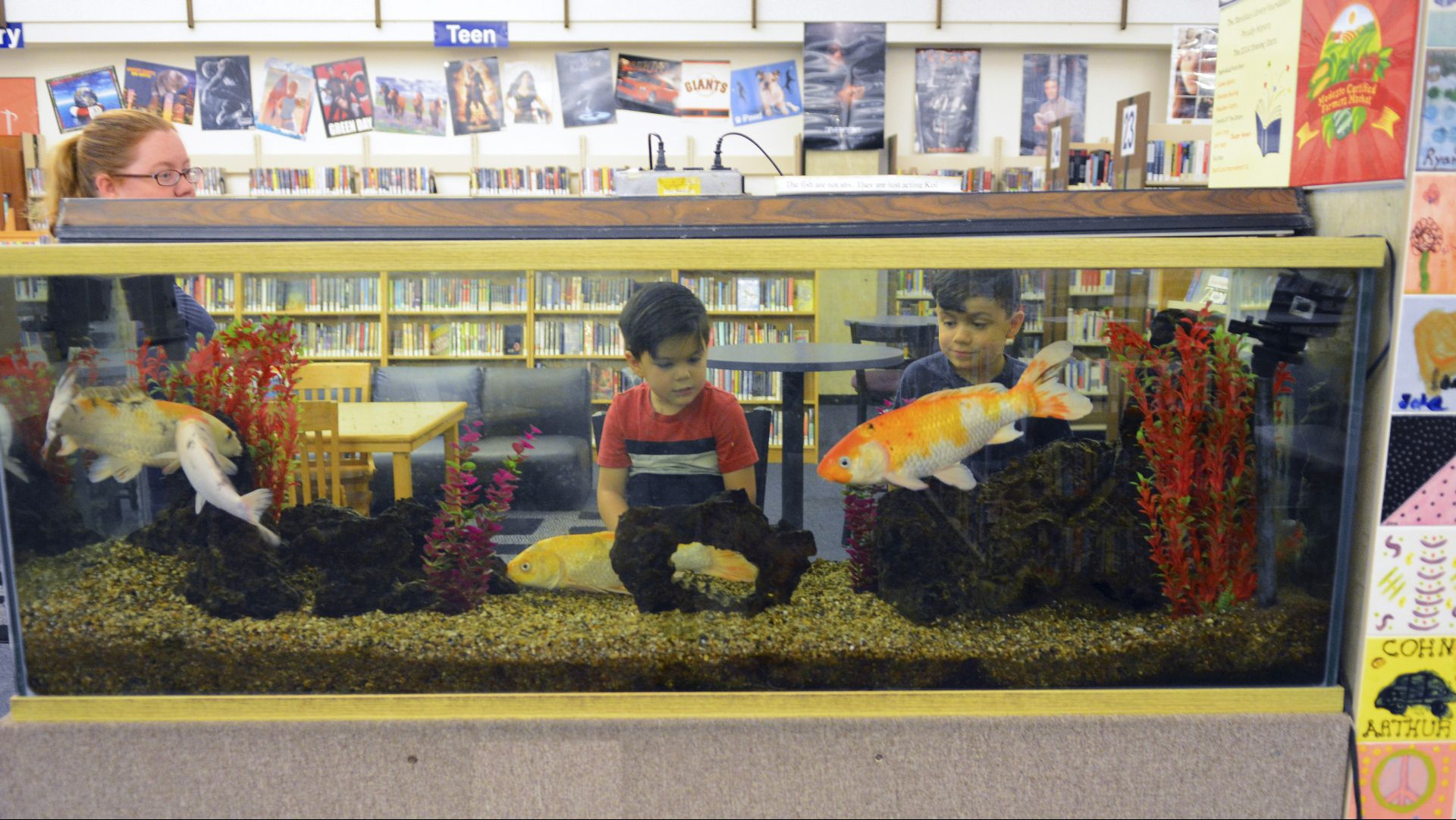Children love the aquarium purchased by the Friends