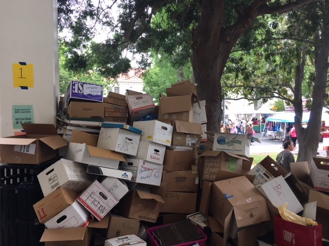 These empty boxes contained thousands of donated books which generated a profit of over $4000.