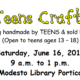 All-Teens Craft Fair announcement