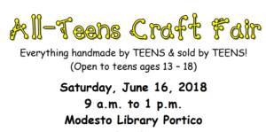 All-Teens Craft Fair announcement