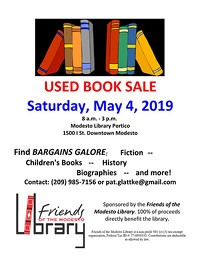 flyer for used book sale
