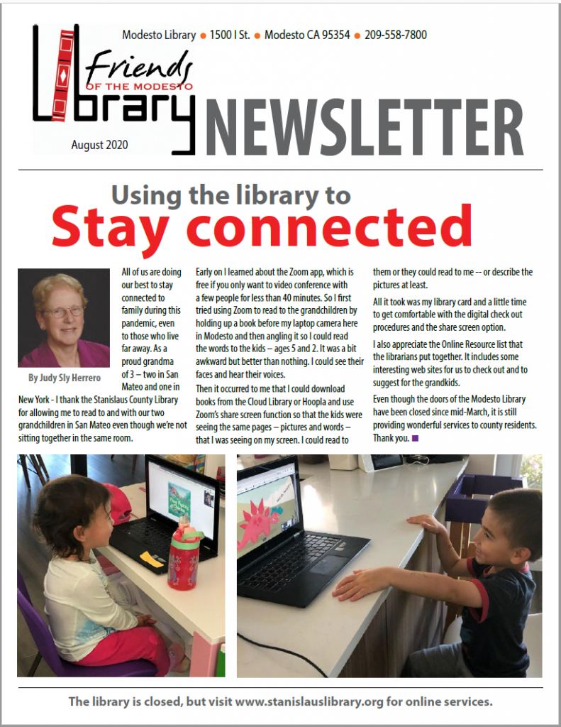 Aug newsletter page 1