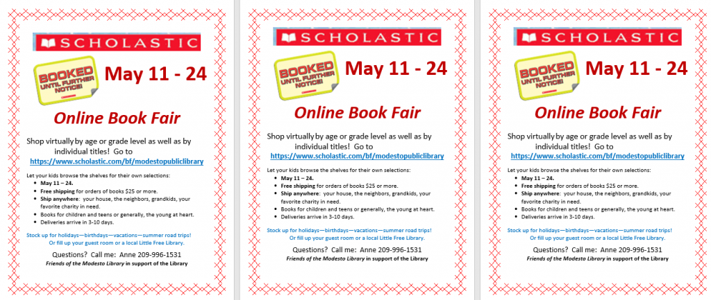 mini flyers for book fair; click to open larger flyer